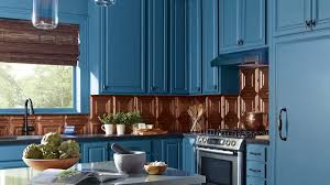 Beautiful Blue Painting Kitchen Cabinets — The Chocolate Home Ideas ...