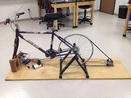 picture of diy bike generator
