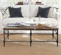 wood iron coffee table posts