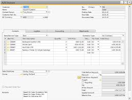 How To Make A Invoice Fascinating Sales SAP Business One Blue Ocean Systems Singapore