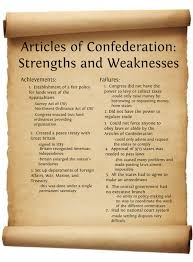 articles of confederation mo u s history the confederation congress had other weaknesses there was no president to lead the country and enforce laws passed by the congress