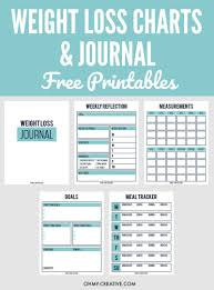weekly weigh in charts printable weight loss chart and journal for weight loss success oh