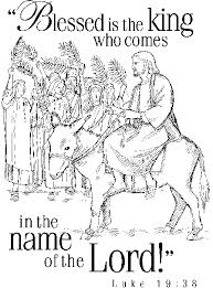 Small Picture Jesus on donkey entering city with Luke 1938 verse coloring sheet