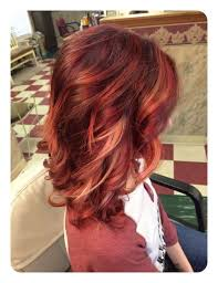 Charming short red hairstyles ideas Brown Hairstyle Short Layered Bobs Can Be Highlighted By Adding Beautiful Deep Dark Reds And Topped With Blonde Highlights Its Great Cut For Framing The Face While The Hairstyles Weekly 80 Stunning Red Hair With Highlights You Can Try Now