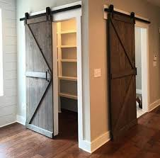 sliding barn doors. A Simple Sliding Barn Door Is Great Way To Close Off Closet With Style Doors
