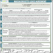 Month To Month Lease Agreements Massachusetts Lease Contract 20