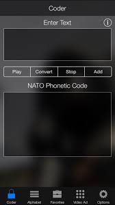 Useful for spelling words and names over the phone. Nato Phonetic Alphabet Code By Rosapp Ltd