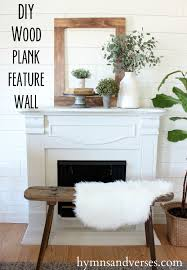 DIY Wood Plank Feature Wall