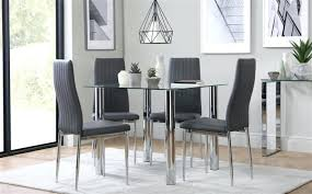 medium size of square glass dining tables 4 small table and chairs nova chrome with grey