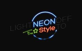 Neon Light Logo Mockup Glowing Psd Mockup Best Free Mockups