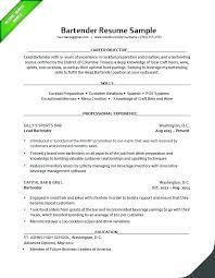 resume sample for restaurant server bar server sample resume podarki co