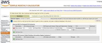Simple Monthly Calculator Estimate Aws Rds Cost For Sql Server