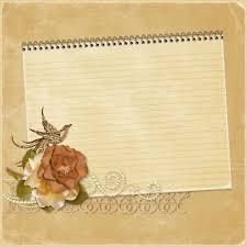 Marco De Caratula Pergamino Fondo Vintage Con Un Cuaderno Y Una
