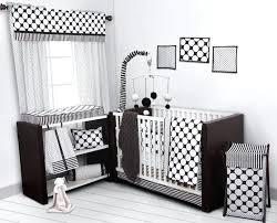 all white crib bedding set dots pin stripes black white crib set including per pad sweet