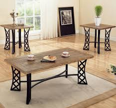 3 piece occasional table sets coffee table and end table set w metal base by
