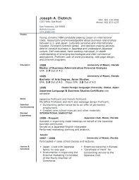 Business Resume Template Word Interesting Best Resume Template Word Resume Template Doc Warehouse Resume