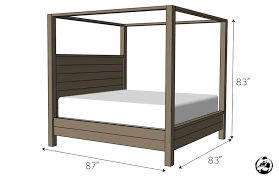 four poster bed plans.  Bed DIY Canopy Bed Plans  Dimensions Throughout Four Poster Rogue Engineer