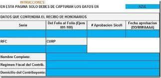 Formato De Recibos Formato Para Recibos De Honorarios Con Codigo De Barras