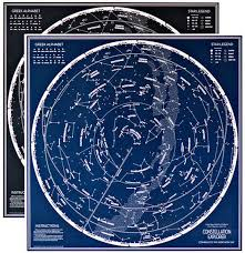 Hanging Celestial Chart Art Print The Municipal Prints Company Constellation Explorer