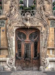 Amazing door in the 7th arrondissement of Paris at 29 Avenue a few steps  from the