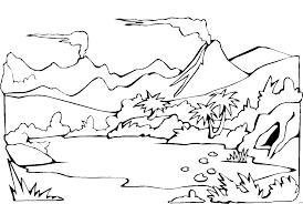 Landschaft Malvorlagen