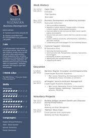 Crew Resume Samples VisualCV Resume Samples Database