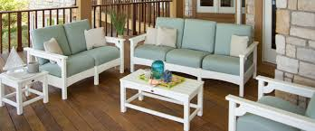 recycled plastic outdoor furniture for patio porch and pool deck