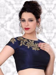 Designer Blouse Online Shopping With Price Navy Raw Silk Designer Ready Made Nice Blouse For Price Or