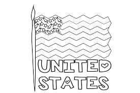 Print all the american flags that you need with your inkjet or laser printer and have fun coloring with your kids. American Flag Coloring Pages Free Printable