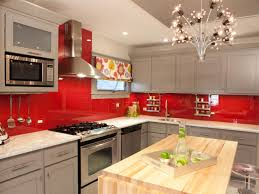 Inspiring Red And Grey Kitchen Cabinets on House Decor Inspiration with Red  Kitchen Cabinets Pictures Ideas Amp Tips From Hgtv Kitchen