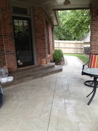stamped concrete patio with stairs. Brilliant Patio StampedConcretePatioandSteps In Stamped Concrete Patio With Stairs I