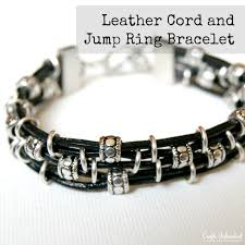 supplies needed to make your own diy leather bracelet
