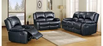 minnesota recliner 3 2 seater black