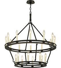 troy lighting f6238 sutton 20 light 32 inch textured black chandelier ceiling light