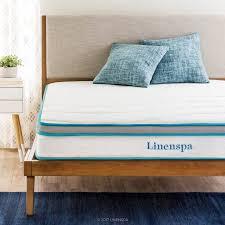 Linenspa 8 Spring and Memory Foam Hybrid Mattress Walmartcom