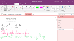 the onenote desktop interface messy notes including a simple calculus equation in both