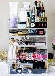 glam luxe cosmetic organizer or icebox makeup goals tips beauty