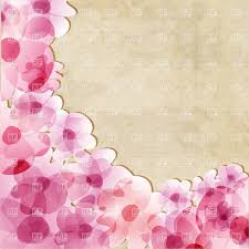 Paper Flower Background Pink Flowers On Old Paper Background Stock Vector Image