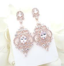rose gold bridal earrings rose gold chandelier earrings wedding earrings wedding jewelry photo ideas gold chandelier earrings bridal