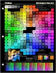 Web Design Color Reference Card Html Rgb Chart Bob Stein