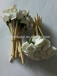 Paper Flower Perfume 15cm 3mm Natural Color Perfume Reed Diffuser Stick With Paper