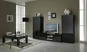 Beau Ensemble Meuble Salon Avec Meuble Tv Design Laqua Noir Solene