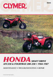 honda atv manuals diy repair manuals clymer honda atc250 fourtrax 200 250 1984 1987 service repair manual