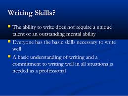 writing skills all topics full presentation