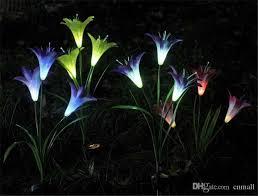 Solar Powered Garden Lights Flowers  RoselawnlutheranLed Solar Powered Garden Lights