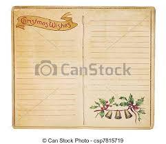 Blank Christmas List Vintage Christmas List Booklet