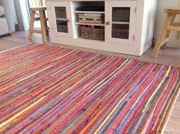 extra large bright multi coloured chindi rag rug 180cm x 270cm or 6ft x 9ft