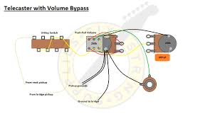 six string supplies telecaster volume tone bypass a very popular wiring setup telecasters any guitar really is to use a push pull pot as a volume or tone bypass when in use the signal from the