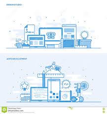 Concept Design Studio Flat Line Color Concept Design Studio And Apps Development