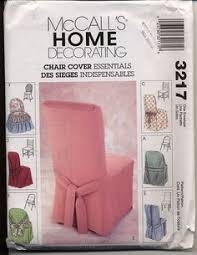 mccalls 3217 chair covers slip covers pattern for folding windsor ladder back and parsons